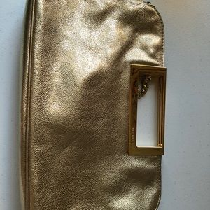 Gold Michael Kors clutch bag
